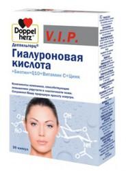 Доппельгерц VIP Гиалуроновая кислота биотин Q10 витамин С цинк, капс. 930 мг №30